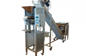 <p><strong>Semiautomatic weighing dosing machine in aluminium and stainless steel.</strong></p>